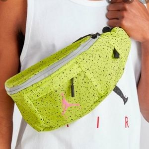 Jordan lime green and pink fanny crossbody nwt